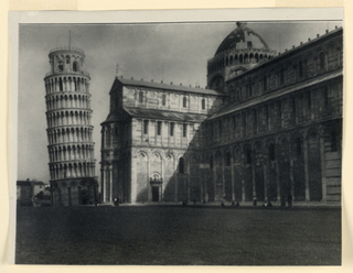 Photograph, Cathedral and Leaning Tower, 1931