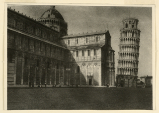 Photograph, View of Cathedral and Leaning Tower of Pisa, 1931