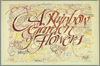 Poster, Rainbow Garden of Flowers
