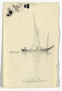 Drawing, Boat of Lake Kiman