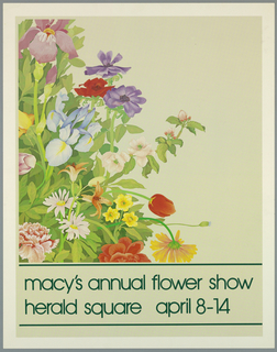 Poster, Macy's Annual Flower Show, 1970s