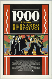 Film poster advertising the movie 1900 by the director Bernardo Bertoluci.