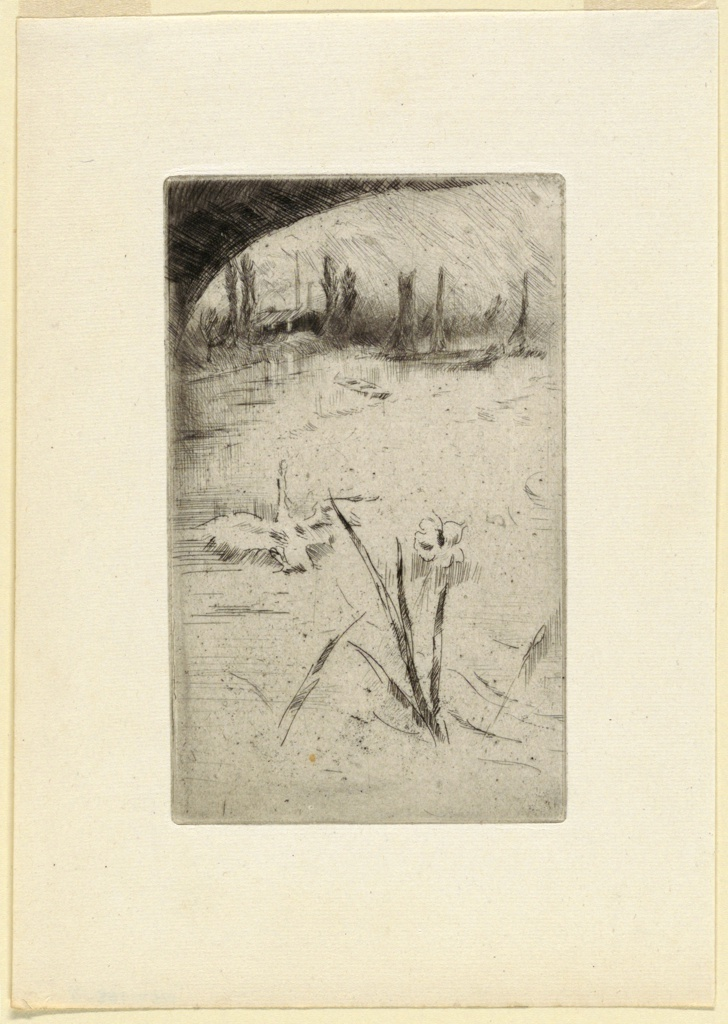 "Print, Sketch after Cecil Lawson's ""Swan and Iris"""