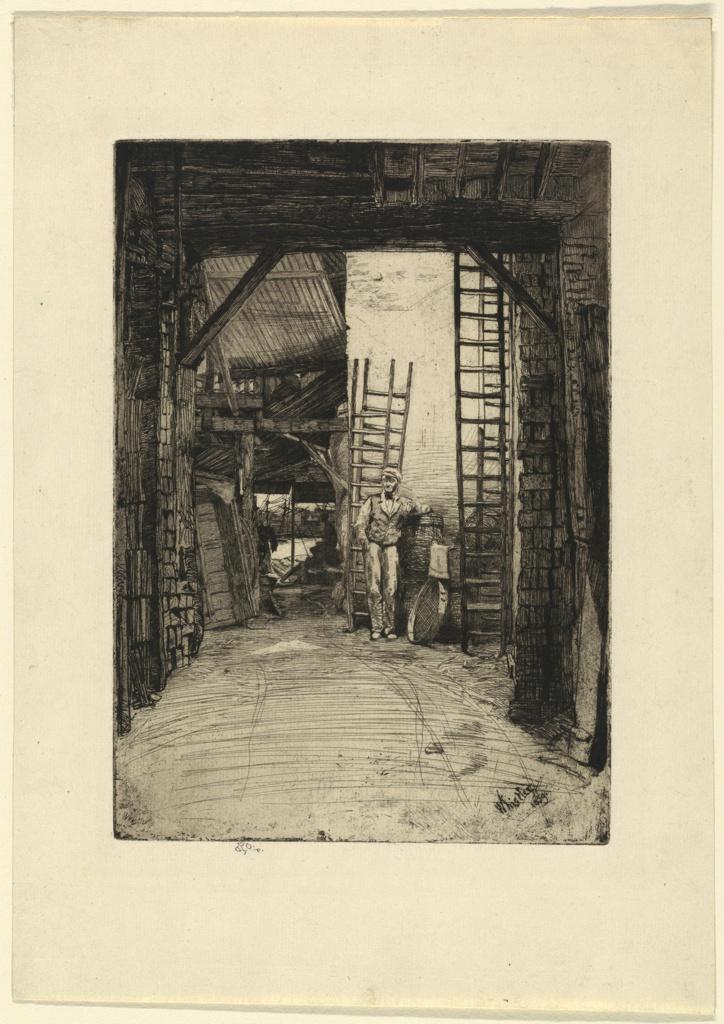 Print, The Lime-Burner