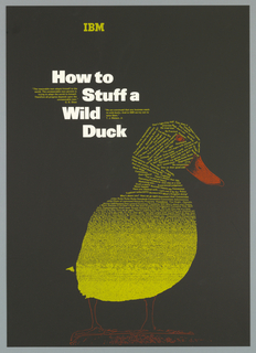 Poster, How to Stuff a Wild Duck