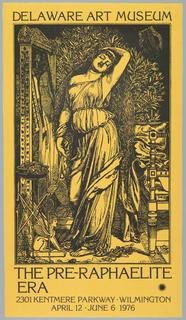 Poster, The Pre-Raphaelite Era: Delaware Art Museum, 1976