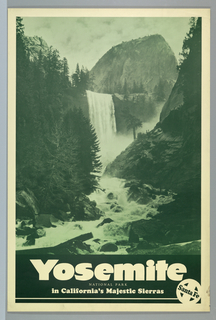 Poster, Santa Fe R.R., Yosemite National Park