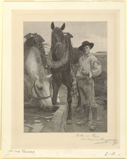Print, At the Trough, 1893