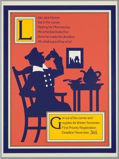 Poster, Little Jack Horner sat in his corner sipping his Mormon tea. His schedule looks fine since he made deadline...