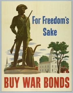 Poster, For Freedom's Sake/Buy War Bonds