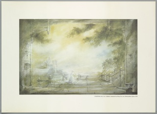 Poster, Stage Design: Act I, Scene 3 for I Puritani, 1976