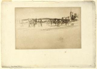 Print   , Little Putney Bridge