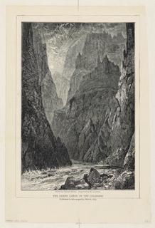 Sun shines through tall mountainous cliffs, narrow opening with river running through.