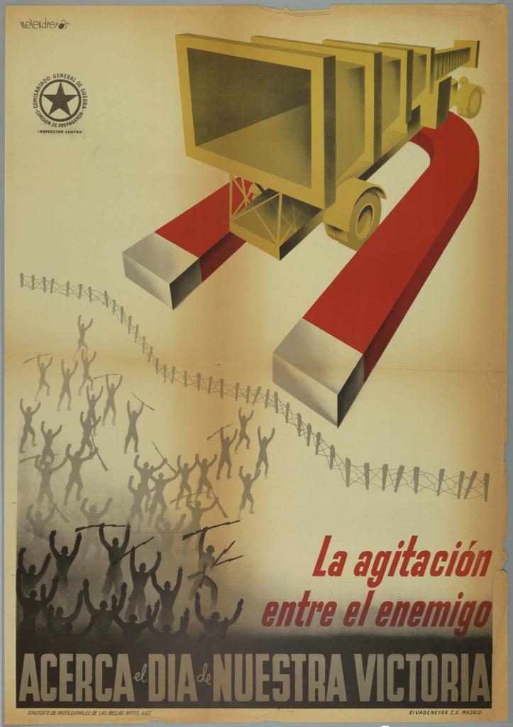 Poster, La Agitacion Entre el Enemigo/Acerca el Dia de Nuestra Victoria (Agitation within the enemy brings the day of our victory closer)