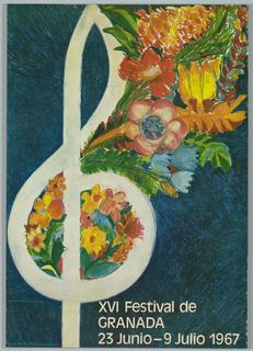 Poster, XVI Festival de Granada, 1967