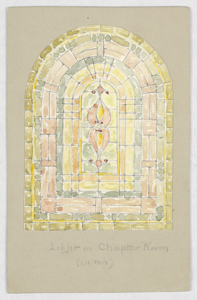 Drawing, Design for Light in Chapter Room, Carnegie Hall, New York, NY
