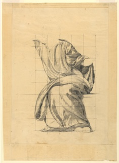 "Drawing, Drapery Study for ""Peace,, ca. 1906"