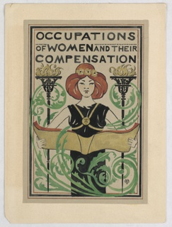 "Drawing, Design for Title Page, ""Occupations of Women and Their Compensation"""