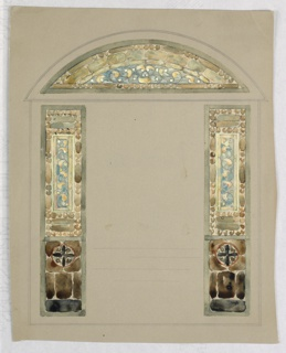 Drawing, Design for stained glass
