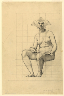 Drawing, Nude Study for 'The Active Life' for Lunette in the Administration Building, Oberlin College, Oberlin, Ohio, 1914