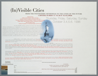 Poster, (In)visible Cities... [poster for 1996 Conference, New York City], 1996