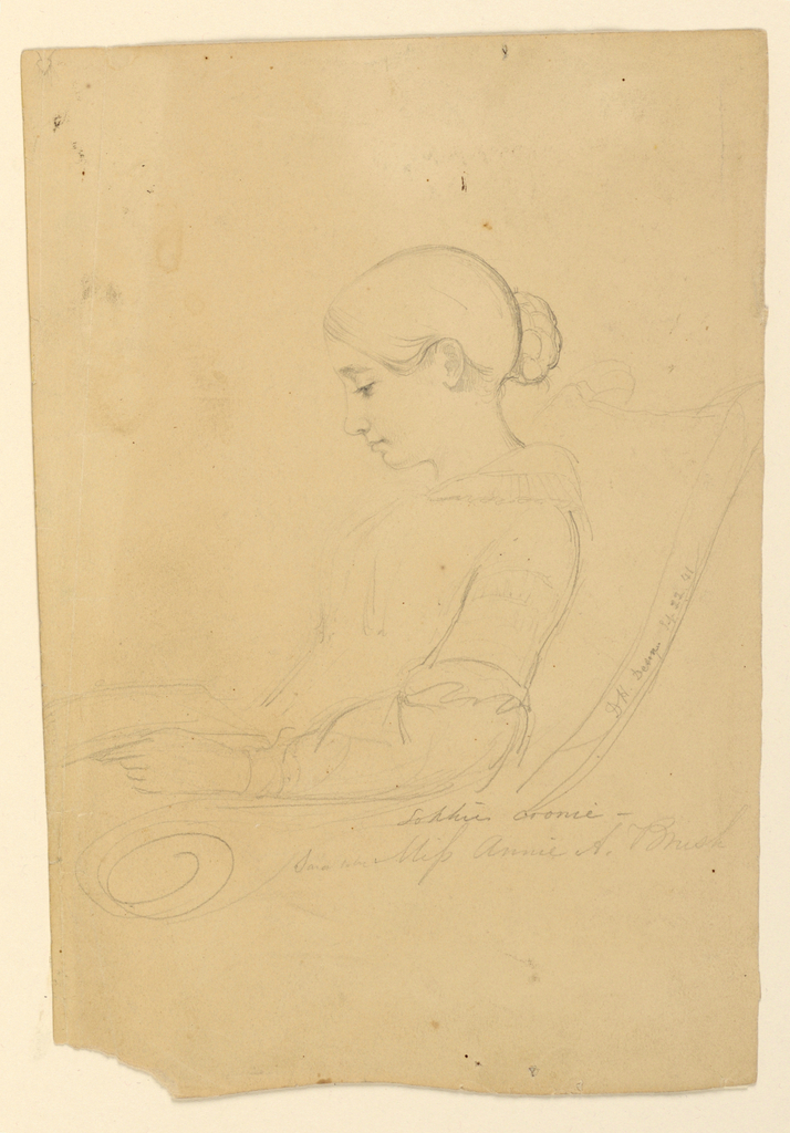Drawing, Annie A Brush, Seated in, September 22, 1841