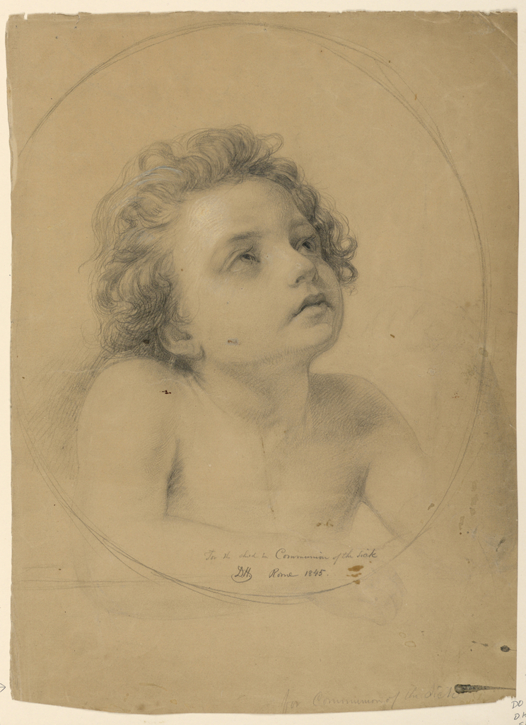 """Drawing, Study for """"Communion of the Sick"""", 1845"""