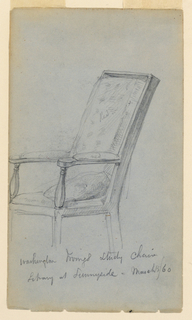 Drawing, Washington Irving's Study, March 15, 1860