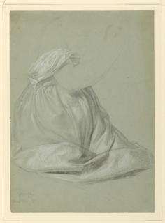 "Drawing, Study for ""A Magdalen"", D, November 19, 1852"