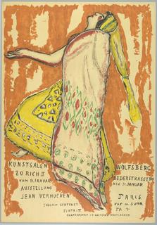 Poster, Ausstellung Jean Verhoeven, Kunst Salon Wolfburg