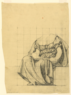 Drawing, Drapery Study for 'The Active Life' for Lunette in the Administration Building, Oberlin College, Oberlin, Ohio, 1914