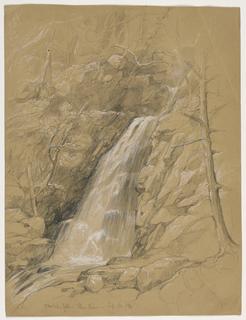 Drawing, Crystal Falls, Ellis River