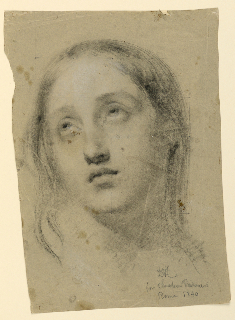 """Drawing, Study for """"Early Christian Prisoners"""", 1840"""