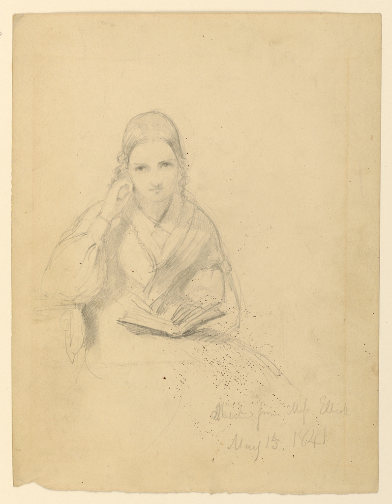 Drawing, Miss Elliot Seated, May 15, 1841