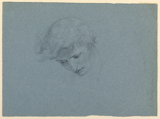 """Drawing, Study for """"Mercy's Dream"""", 1857"""