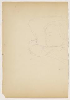 Drawing, Child Sleeping, ca. 1852