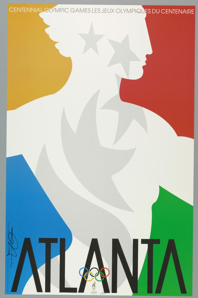 Poster, 1996 Atlanta Georgia Olympics, ca. 1995