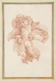 Drawing, Seated putto