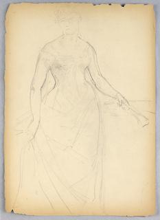 Drawing, Sketch for a Portrait of Bella Worsham