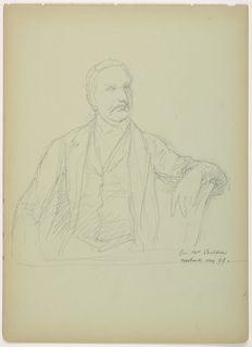 Drawing, Mr. Sheldon Seated, 1899