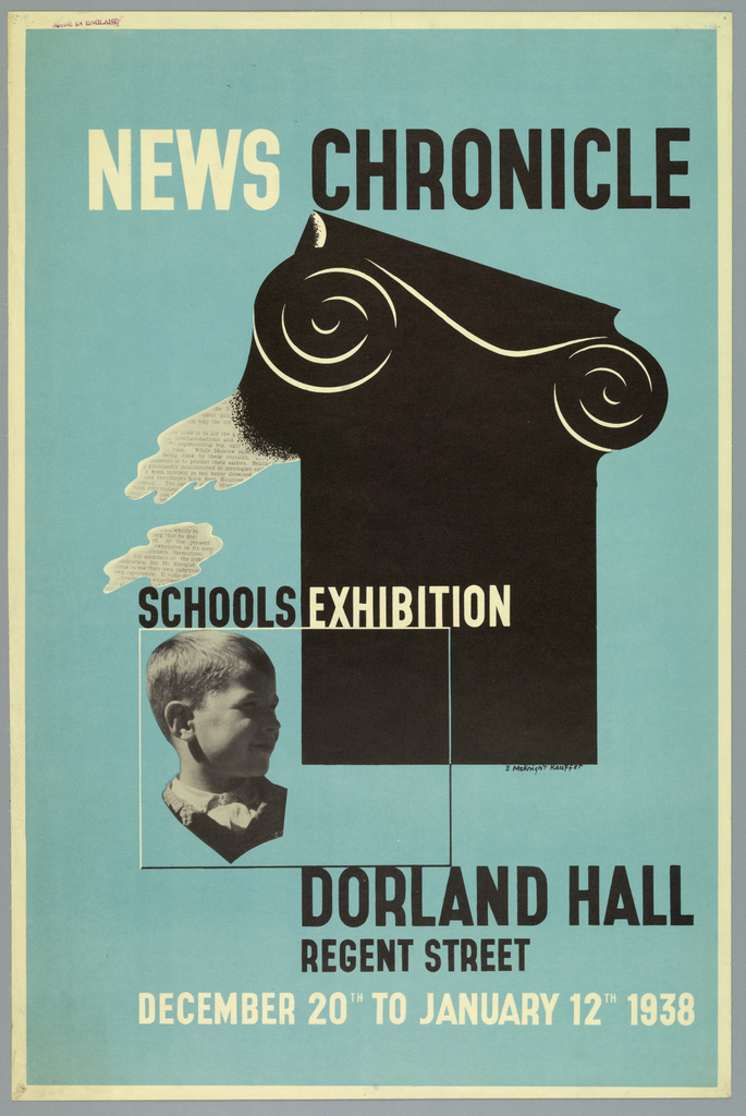 Poster, News Chronicle, Schools Exhibition
