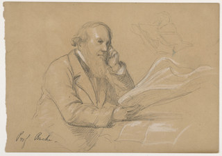 Drawing, Professor Alexander Dallas Bache Seated; Verso: Scribbled and Crossed out Sketch, 1859