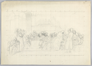 "Drawing, Study for ""Scientific Group"", 1858"