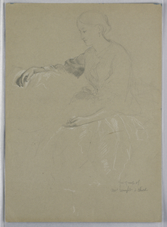 Drawing, Mrs. William Wright and Child, 1857