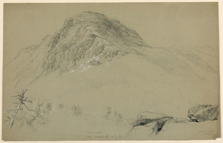 Drawing, Mount Mansfield, Looking South