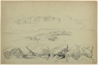 Drawing, Ledges on Mt. Chicorua