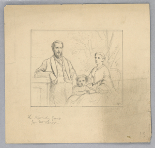 "Drawing, Study for ""Titian Showing, 1872"