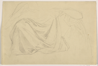 "Drawing, Study for ""Justice and Peace:, Drapery, 1878–86"