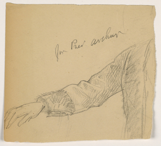 Drawing, President Chester A. Arthur's Right Arm, 1884