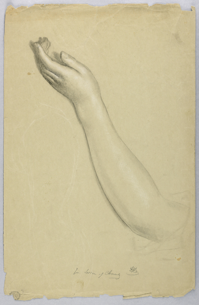 """Drawing, Study for """"Lesson of Charity"""", 1850"""